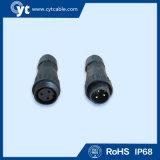 3pin Waterproof o conetor para o cabo da iluminação do diodo emissor de luz