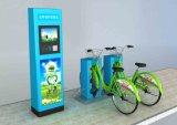 Coluna ordinária verde Bicicleta-Enegrecida pública do dobro do fechamento do dobro da tubulação de aço