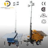Tour légère solaire mobile lumineuse supérieure