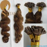 Brasilianische menschliche Jungfrau Remy Keratin-Haar-Extension