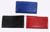 Glänzende Krokodil-Korn-PU Dreifach-Gefaltete Form-Dame Wallet