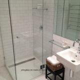 Vidrio Tempered de la pantalla de ducha con la ranura exacta del orificio