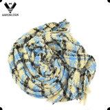 Bufanda controlada hilado de la tela escocesa de tartán del bucle de la buena calidad