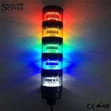 Cinco do diodo emissor de luz do sinal pilhas da luz da torre, luz da máquina