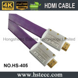 Género macho-macho y aplicaciones multimedia plana HDMI 2.0 Cables con el metal Shell