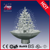 Holiday Decorative Christmas Tree White Snow with Music