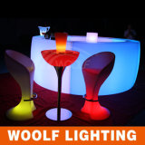 Taburete de barra casero cambiante de la silla del coctel del ocio LED del color