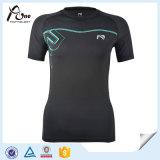 도매 젊음 압축 t-셔츠 메시 삽입 스포츠 착용