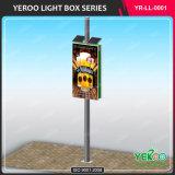 高品質のランプのポストのライトボックスを広告しているアルミニウム街灯ポーランド人