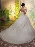 0051 vestidos de casamento Sleeveless inchado Strapless da tira do trem da corte do comprimento do assoalho