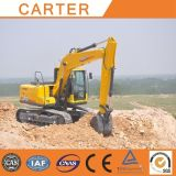 Máquina escavadora Diesel-Powered do Backhoe da esteira rolante resistente Multifunction de Carter CT150-8c