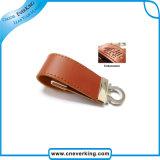 Preiswertes verschiedenes Kapazitäts-Blitz-Laufwerk-kundenspezifischer Leder USB
