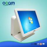 """(POS8618) """" indicador duplo todo do LCD do monitor da tela de toque da tela 15 em um terminal da posição do PC"""