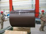 la bande en acier enduite par couleur de 0.13-1.5mm/a enduit la bobine d'une première couche de peinture en acier