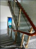 Алюминий способа MD Kh самомоднейший и стеклянный деревянный поручень лестницы