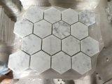 Mosaico branco de Bianco Carrara, mosaico de mármore branco