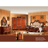 Het Meubilair van het huis met de het Antieke Bed en Garderobe van de Slaapkamer (W808)