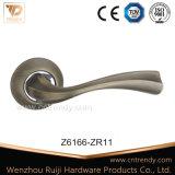 Het Handvat van de Deur van de Legering van het zink op Vierkante Rozet voor de Bouw van Hardware (Z6092-ZR09)