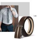 自動バックルが付いている高品質の人の本革の金属ベルト