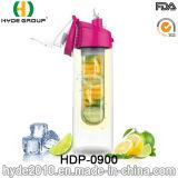BPA liberano la bottiglia di acqua di Infuser del succo di frutta di Tritan, bottiglia di plastica personalizzata di infusione della frutta (HDP-0900)