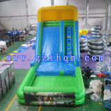 Pool Inflatable Slide 또는 Outdoor 큰 Green PVC Inflatable Slide