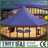 Tente de pagode d'aluminium hexagonale 5X5m en plein air à vendre
