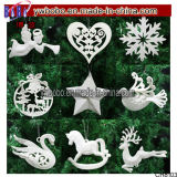 Ornements féeriques de décorations de Santa de flocon de neige de babioles pendantes d'arbre de Noël (CH8103)