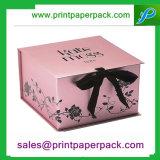 Rectángulo de empaquetado de la cartulina del regalo de papel de encargo de lujo barato de la joyería para el anillo
