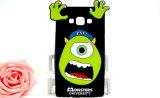 iPhoneの移動式カバー(XSD-043)のための大きい目モンスター3Dのシリコーンの漫画の電話箱