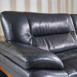 Cuero de grano superior del sofá Chesterfield (810 #)