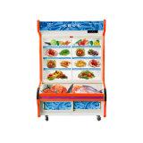 Refrigerador dobro de Oder do prato da porta de vidro de deslizamento da Três-Camada da temperatura