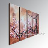 Canvas Large Modern Wall Art Decorationの手塗りのAbstract Plum Blossom Flower Oil Painting