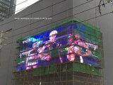 Alta visualización de LED video a todo color de la publicidad al aire libre de la definición SMD P10