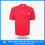 バルク卸し売り安の衣類の平野のブランク人の赤いポロシャツ