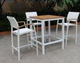 Moderner im Freienpatio Barstool/Stuhl mit Batyline Ineinander greifen-Riemen Textilene Hotel-Bistro-Kaffee-Plattform