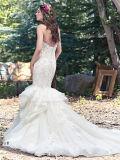 Платье венчания поезда суда задней части низкого уровня уникально картины 0089 Mermaid расположенный ярусами нижнее