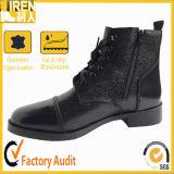 Ботинки лодыжки горячей черноты типа воинские