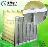 Фильтр воздушного кармана ткани эффективности F8 поставщика 95% Nonwoven