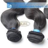 Уток человеческих волос девственницы прочных волос бразильский