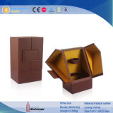 Eindeutige PU Leather Single Wine Box mit Drawer (6441)
