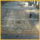 Mosaico de pedra natural/teste padrão de mármore do telha do mosaico/o de mármore do mosaico do medalhão