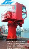 Gru pieghevole telescopica dell'asta con la baracca dell'operatore