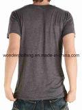 T-shirt bon marché d'hommes de vente d'équipage de plaine chaude de cou