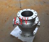Robinet à tournant sphérique d'acier inoxydable de deux parties/PCS