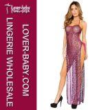Peignoirs sexy de robe de robe de nuit de robe longue de vêtements de nuit (L51297)