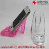 Support High-Heeled acrylique transparent de téléphone de forme d'utilisation quotidienne