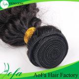Cabelo humano do Virgin brasileiro quente por atacado do Weave do cabelo Curly do estilo
