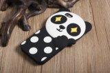 3D創造的な漫画のパンダの多彩なロゴカバー柔らかいシリコーンの携帯電話の箱(XSDW-042)