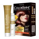 Couleur des cheveux permanente cosmétique de Tazol Colorshine (Bourgogne) (50ml+50ml)