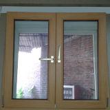 Окно K02027 наклона и поворота цветастого профиля UPVC внутренное